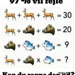 97 % vil fejle - kan du regne den ud?